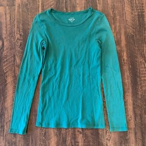 J Crew | Perfect Fit Long Sleeve Green Top 💚💚💛